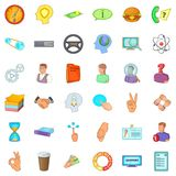 Business environment icons set, cartoon style. Business environment icons set. Cartoon set of 36 business environment vector icons for web isolated on white Royalty Free Stock Image