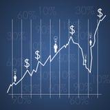 Business environment - teamwork graph. Business environment teamwork graph success Stock Images