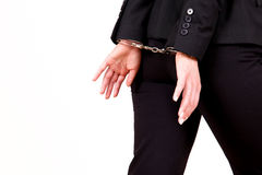 Business escaping handcuff Stock Images