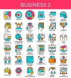 Business essential line icons Royalty Free Stock Photography