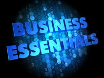 Business Essentials on Digital Background. Stock Photo