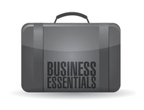 Business essentials suitcase illustration Royalty Free Stock Image