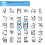 Business Essentials, thin line icons set Royalty Free Stock Images