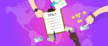 Business ethic ethical company corporate concept. Vector Stock Image