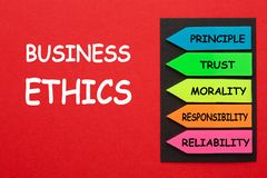 Business Ethics Diagram royalty free stock photography