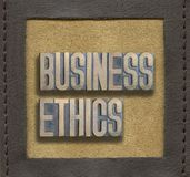 Business ethics framed Royalty Free Stock Images