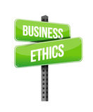 Business ethics road sign Stock Image