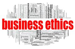 Business Ethics word cloud. Concept on white background, 3d rendering Royalty Free Stock Images