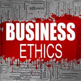 Business ethics word cloud. Creative illustration of idea word lettering typography . 3D rendering Stock Photos