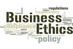 Business Ethics word cloud stock image