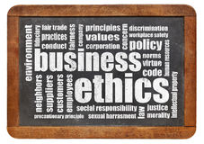 Business ethics word cloud Stock Photos