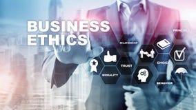 Business Ethnics Philosophy Responsibility Honesty Concept. Mixed media background royalty free stock image
