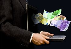 Business with euro Royalty Free Stock Images