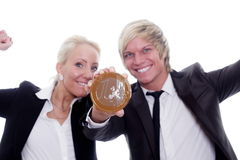 Business euro person Royalty Free Stock Images