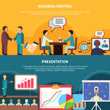 Business Events Banners Set Royalty Free Stock Photo