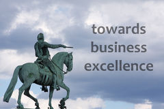Business excellence. Pointing out the road towards business excellence royalty free illustration