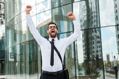 Business excitement. Royalty Free Stock Photos