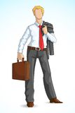 Business Executive with Briefcase Royalty Free Stock Images