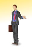 Business Executive with Briefcase Royalty Free Stock Photo