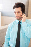 Business executive on cell phone Royalty Free Stock Photo