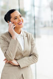 Business executive cell phone Royalty Free Stock Photos
