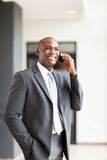 Business executive cellphone Royalty Free Stock Images