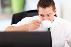 Business executive coffee Stock Photo