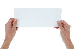 Business executive holding blank placard Royalty Free Stock Images