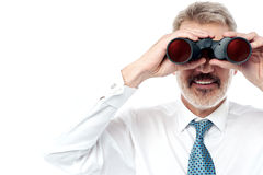 Business executive hunting talents Stock Image