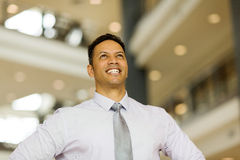 business executive looking up Royalty Free Stock Photography