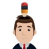 Business executive male concept icon. Stock Photos