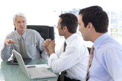Business executive officers at work Stock Image