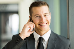 Business executive phone Royalty Free Stock Images
