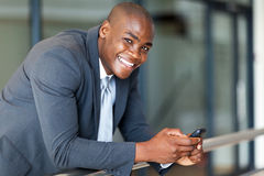 Business executive smart phone Stock Photography