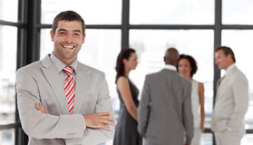 Business executive smiling at camera Royalty Free Stock Image