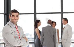 Business executive smiling at camera Royalty Free Stock Images