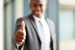 Business executive thumb up Stock Image