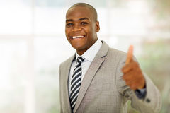 Business executive thumb up office Royalty Free Stock Images