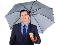 Business executive umbrella Royalty Free Stock Photo