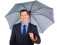 Business executive umbrella royalty free stock photo