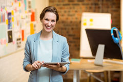 Business executive using digital tablet Royalty Free Stock Images