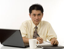Business executive writing Stock Image