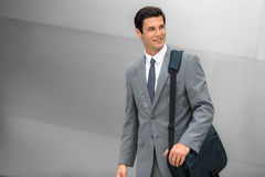 Business executive young adult successful smiling corporate working man handsome Royalty Free Stock Photography