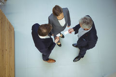 Business executives giving business cards to each other Royalty Free Stock Photo