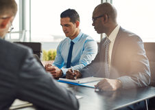 Business executives in a management meeting Royalty Free Stock Image