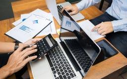 Business Executives Marketing Analysis sales performance Team, teamwork meeting Concept.  royalty free stock photo