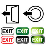 Business Exit Icon Set Stock Photos