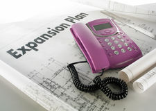 Business expansion plan. Call to grab the business expansion plan Stock Image