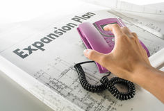 Business expansion plan. Call to grab the business expansion plan Royalty Free Stock Photos