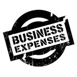 Business Expenses rubber stamp. Grunge design with dust scratches. Effects can be easily removed for a clean, crisp look. Color is easily changed Royalty Free Stock Photos
